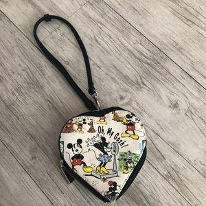 Disney Mickey & Minnie zipper coin purse